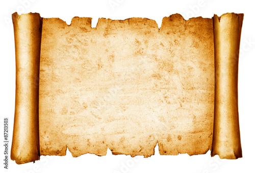 Canvastavla vintage scroll isolated on white background