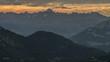 Mountain sunset landscape Haute Savoie Alps time lapse 4K