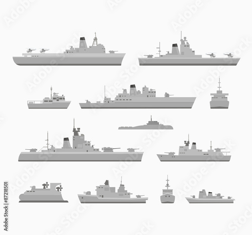 Canvas Print warships