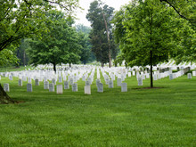 Graves And Headstones In Arlington National Cemetery In Virginia USA