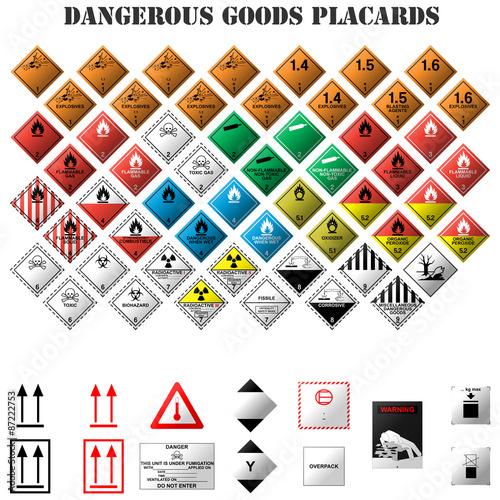 Fotografie, Obraz  señales de mercancia peligrosa