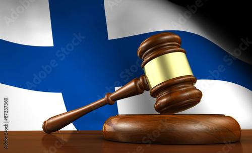 Fotografie, Obraz  Finland Law And Justice Concept