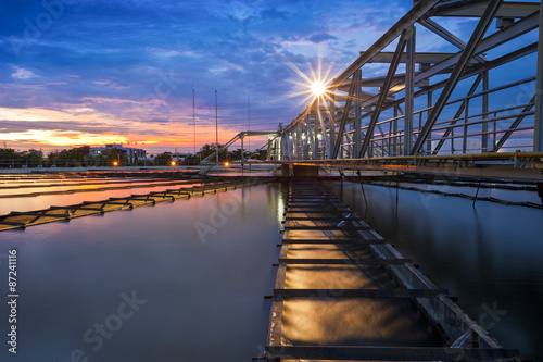 Fotografía  Water Treatment Plant at twilight