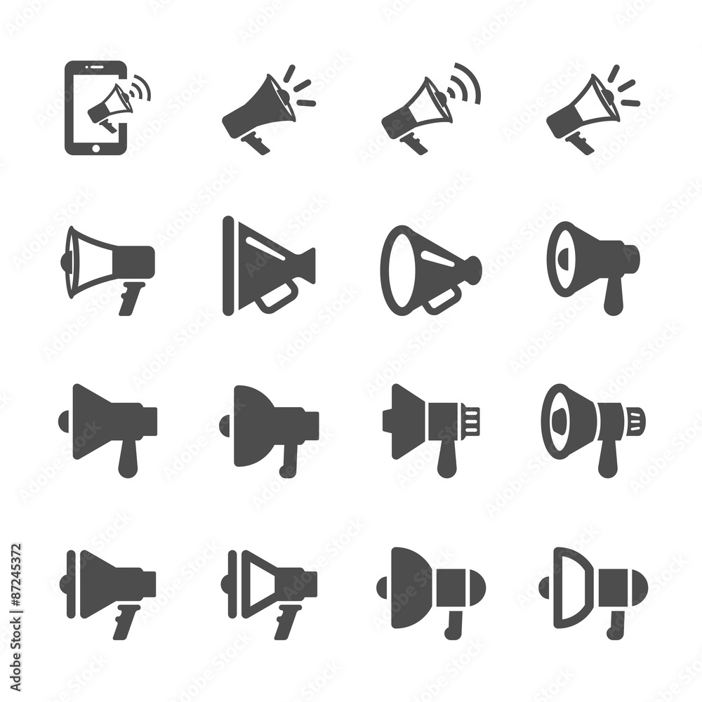 Fototapeta megaphone different design icon set, vector eps10