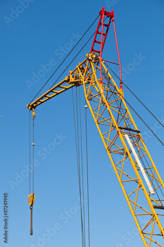 tower crane in the port Poster