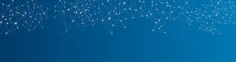 Panel Szklany Blue social network background.
