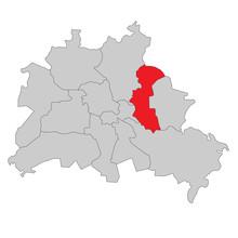 Berlin Lichtenberg-Hohenschönhausen - Vektor