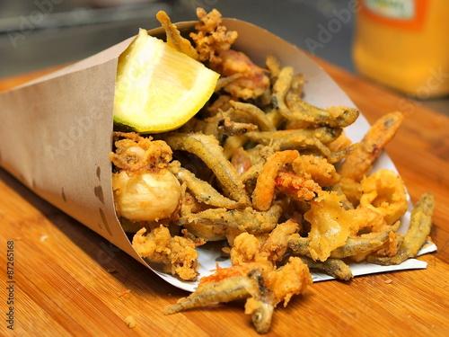 Fototapeta fritto misto di pesce 2 obraz