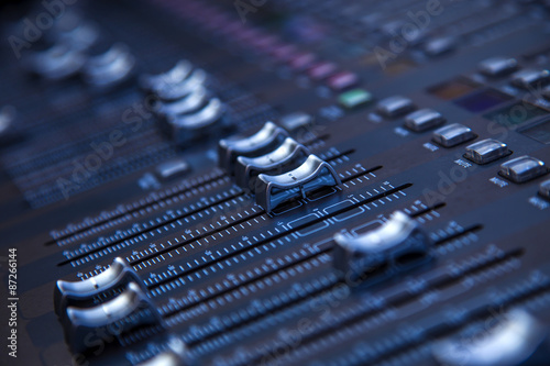 Fotografie, Obraz  Profesional studio equipment for sound mixing .