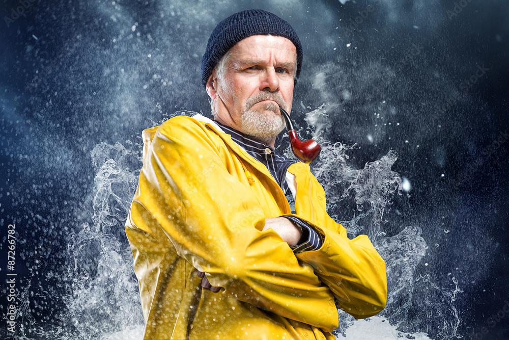 Fototapety, obrazy: Seemann im Sturm