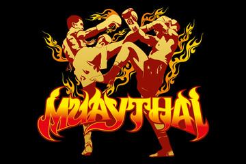 Fototapeta Sztuki walki thai boxing