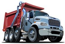 Vector Cartoon Dump Truck