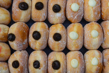 Sweet Donuts In Market Bakery.