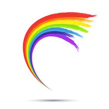 Rainbow Vortex  Logo  Template,