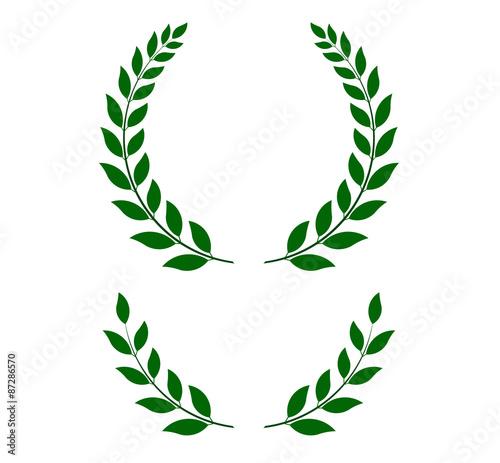 Fototapeta green laurel wreaths - vector illustration  obraz