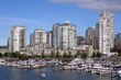 Vancouver waterfront apartment buildings and marina