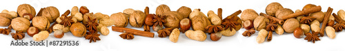 Obraz various nuts and spices - fototapety do salonu