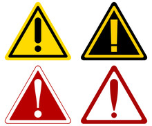 Vector Warning Attention Signs