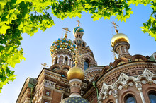 St Petersburg, Russia. Cathedral Of Our Saviour On Spilled Blood,  St Petersburg, Russia. Spilled Blood Cathedral Facade