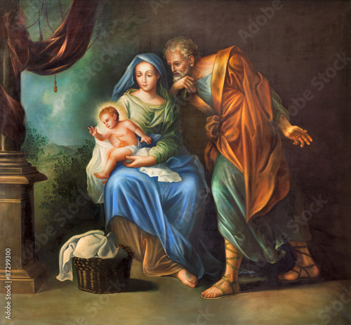 Fotografie, Obraz  Cordoba - The Holy Family painting