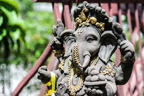 Ganesha made of stone in Thailand Canvas Print