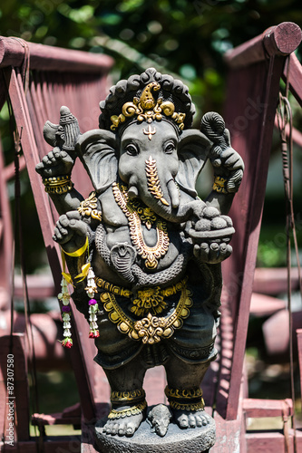 Ganesha made of stone in Thailand Wallpaper Mural