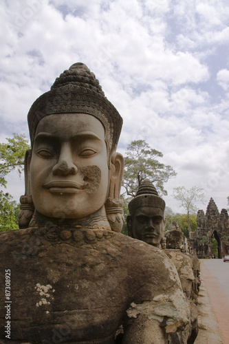 Photo Stands Place of worship On the way to Bayon Temple, Siem Reap, Cambodia