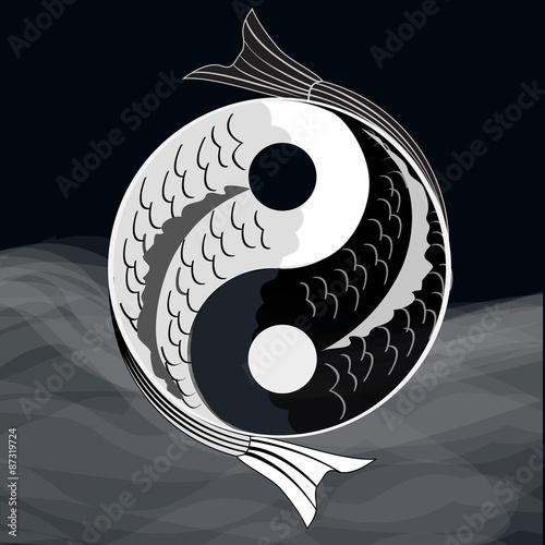Fényképezés  Yin yang symbol.Vector.