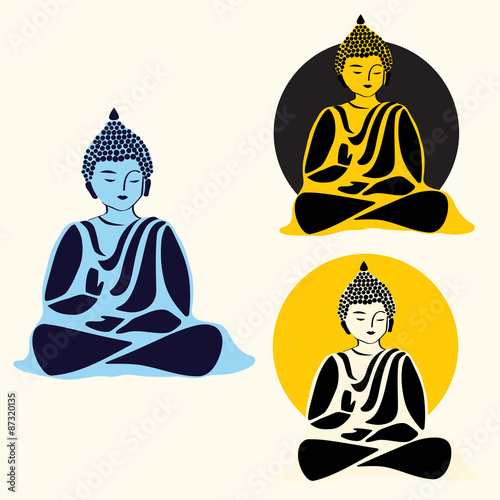 Buddha icon set. vector illustration Vector.