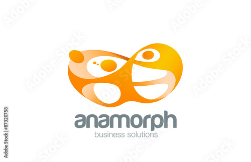 Teamwork Logo design vector template. Social community team netw ...