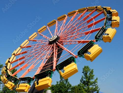 Amusement Park Amusement park ride in motion