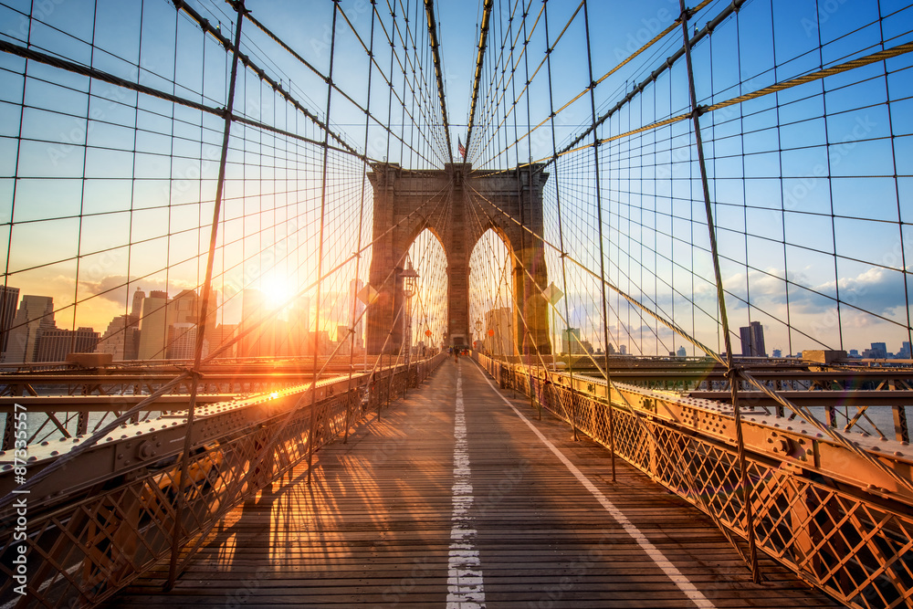 Fototapeta Brooklyn Bridge in New York City USA
