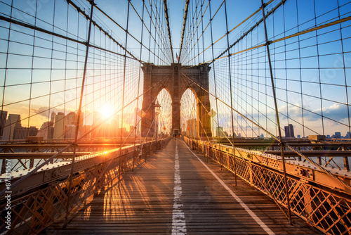 Fotobehang Brug Brooklyn Bridge in New York City USA