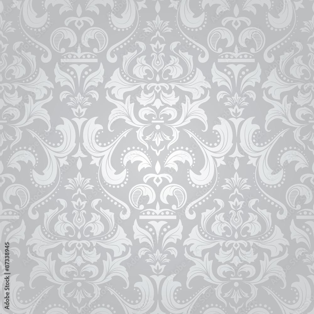 Light damask seamless floral pattern.