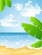 Sunny summer sandy beach