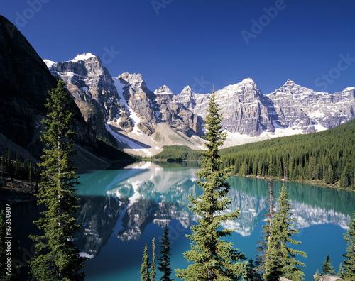 Kolory fototapet letnie-canadian-rockies