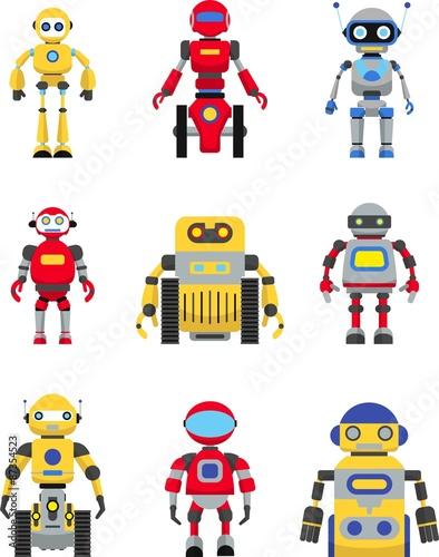 Deurstickers Robots Robots set