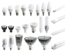 A Large Set Of LED Bulbs Isola...