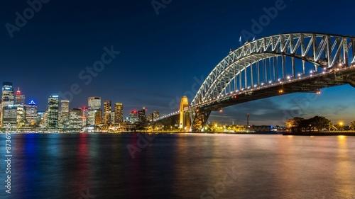 Deurstickers Australië Sydney's opera house and skyline seen from the harbour bridge