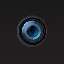 Vector Camera Lens Illustration