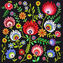 ludowy wzór kwiatowy