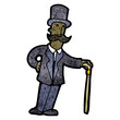 cartoon victorian man