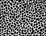 Seamless pattern of skin of leopard, vector illustration
