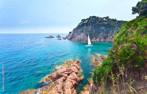 Canvas Prints Cappuccino Mediterranean coast of Spain