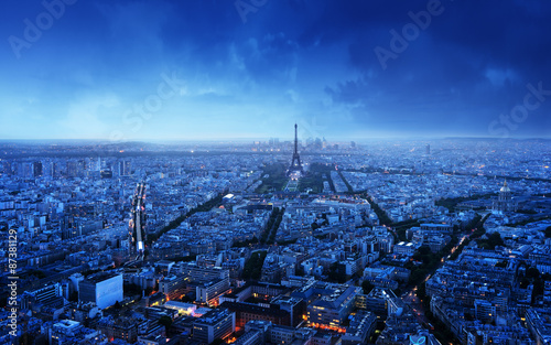 Wallpaper Mural Paris skyline at sunset, France