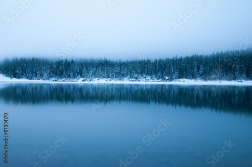 Foto auf AluDibond Reflexion Laghi di Fusine