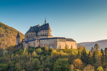 Medieval Castle Vianden, Build On Top Of The Mountain In Luxembo