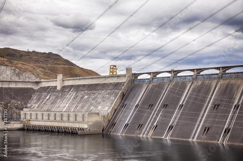 Deurstickers Dam Grand Coulee Dam