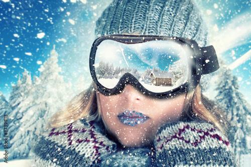 Poster Wintersporten Abenteuer im Winter