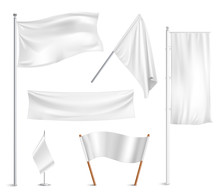White Flags Pictograms Collect...